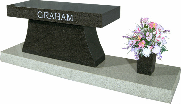 Model Sd 040 Graham Cremation Bench Quote Gravestones And Memorials Quality Memorial