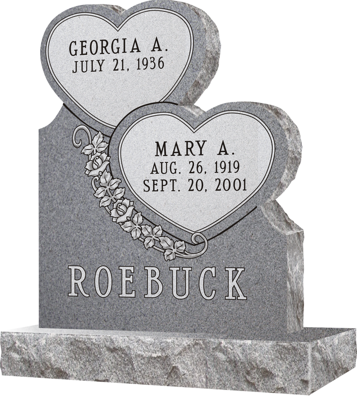 Sd213 Model Double Heart Shaped Headstones Quote
