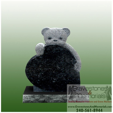 Sd 5339 Baby Teddy Bear Headstone Gravestones And