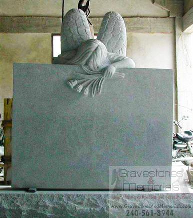 Sd 5049 Weeping Angel Headstone Memorial Gravestones And