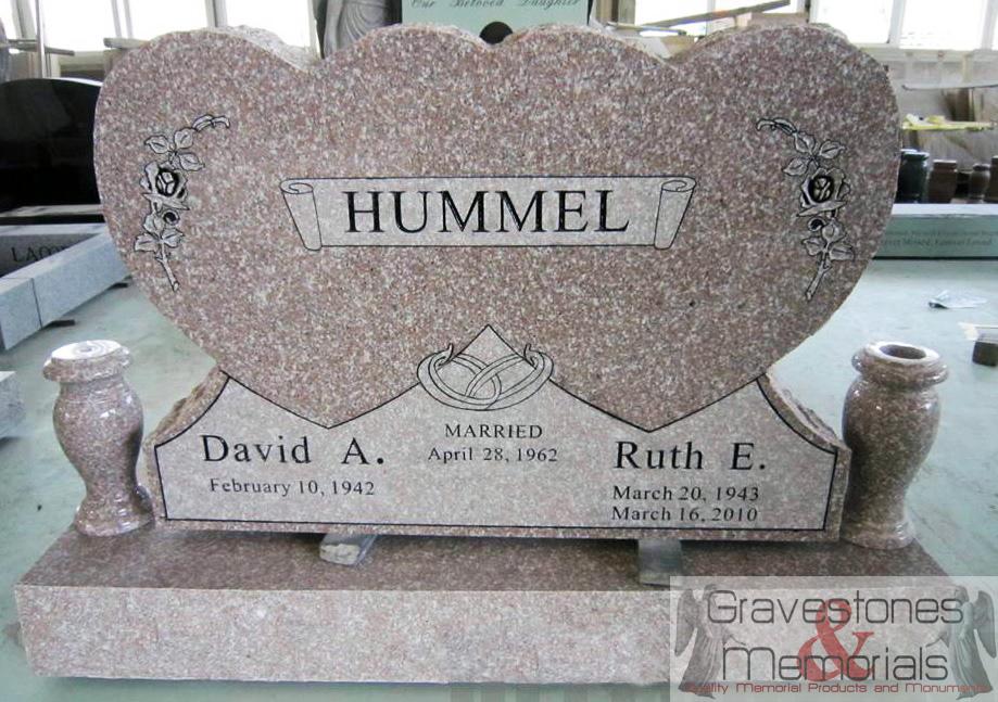 6360gm Companion Heart Headstone Gravestones And