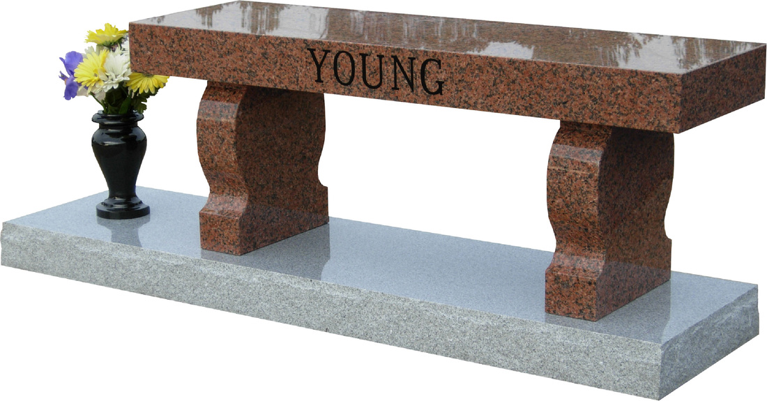 Amazing Memorial Benches Prices Part - 4: Model SD-002 Young Granite Memorial Bench