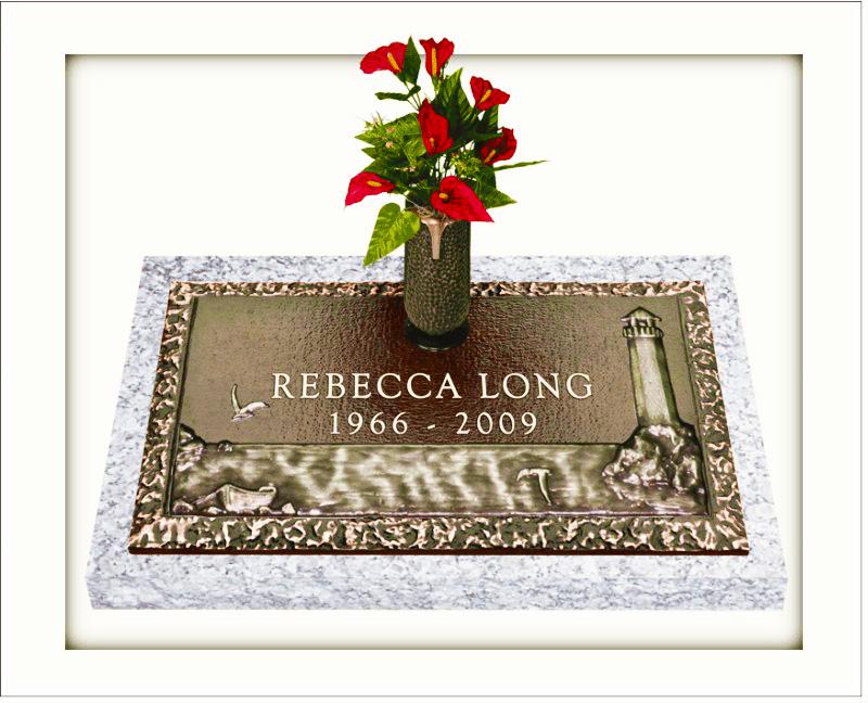 Scenic Bronze Grave Markers - Gravestones and Memorials