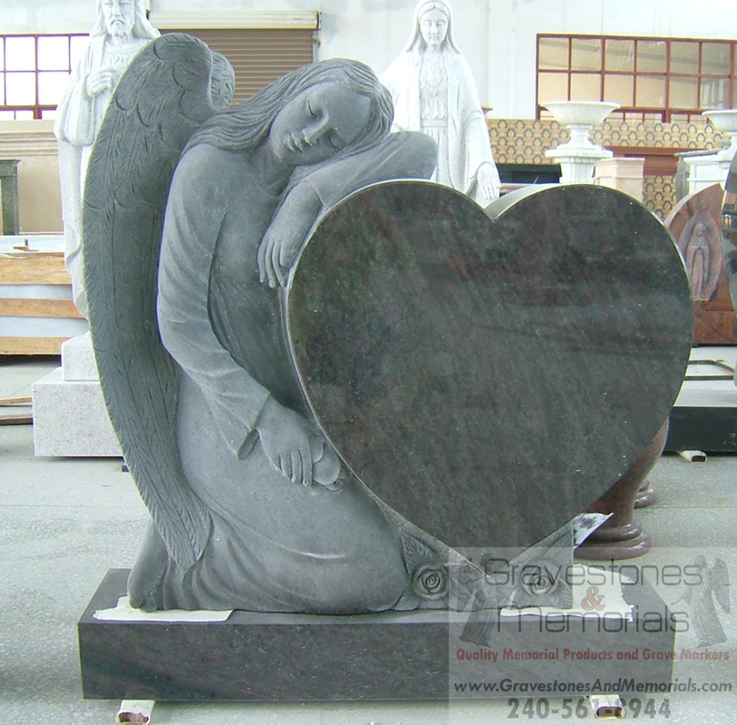 Sd 5028 Angel Headstone And Heart Gravestones And